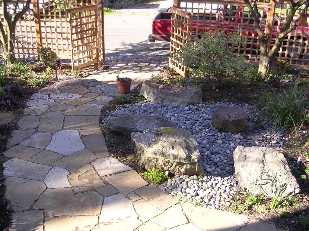 artemis landscaping flagstone walkway